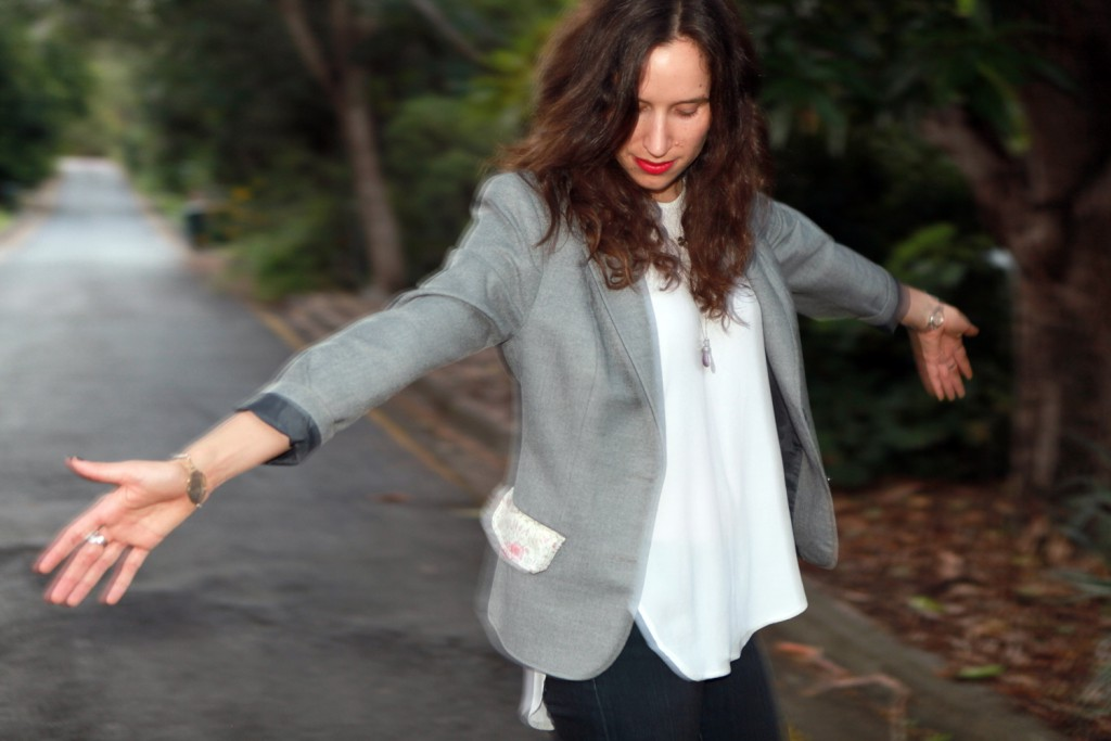 DIY-Pocket-on-upcycled-jacket_arms-out