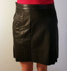Leather-jacket-to-skirt-refashion