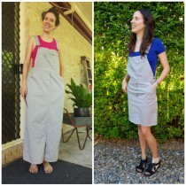 Overall Dress - Before and After